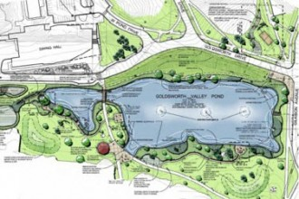Rendering of the Goldsworth Valley Pond area.