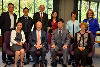 Photo of Representatives from WMU and Guizhou University of Finance and Economics.