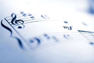 Photo of a sheet of music.