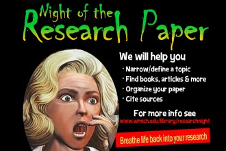 Night of the Research Paper flier.