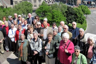 Photo of an Osher Lifelong Learning class visiting Detroit.