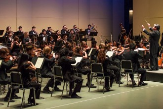 Photo of the University Symphony Orchestra.