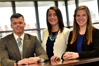Photo of Jeremy Juday, Kaitlyn Phillips and Lauren Nowakowski.