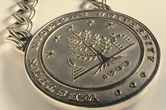 Photo of a WMU presidential medallion.
