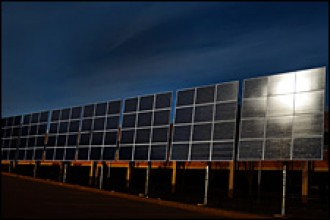 Photo of WMU solar array