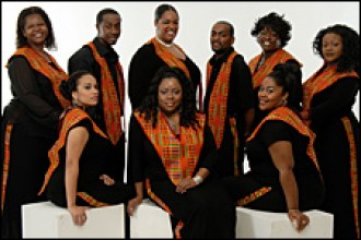 Photo of the Harlem Gospel Choir.
