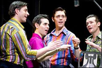 Photo of Jersey Boys at Miller Auditorium.