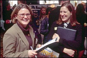 Photo of WMU career fair.