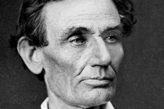 Photo of Abraham Lincoln in 1858.