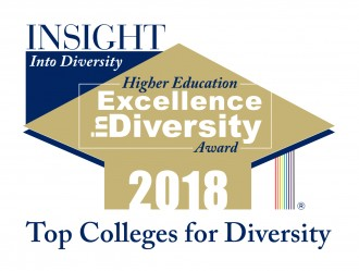 Logo that reads Insight Into Diversity Higher Education Excellence in Diversity Award 2018, Top Colleges for Diversity