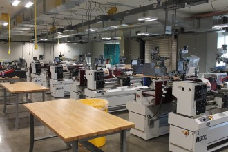 Photo of equipment inside the Advanced Manufacturing Partnership Library.