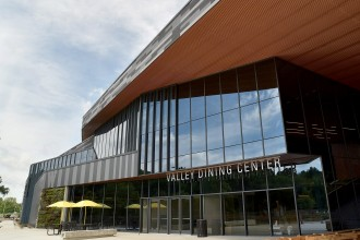 Photo of the outside of the Valley Dining Center entrance.
