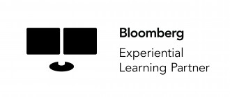 Photo of a logo with the words Bloomberg Experiential Learning Partner.