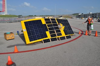Photo of Charging solar arrays for the Sunseeker race car