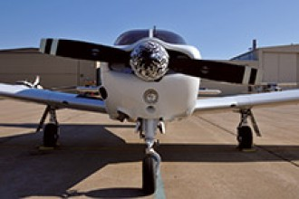 Photo of a WMU College of Aviation plane