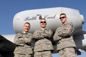 Photo of the Michigan National Guard 110th Airlift Wing in Battle Creek