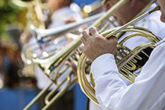 Stock photo of wind instruments