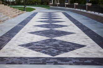 Image of the commemorative pavement at Heritage Hall.