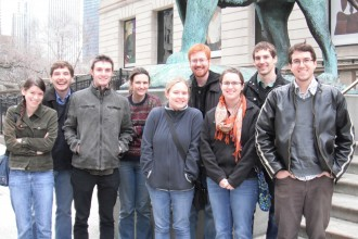 Image of students on a field trip to Chicago.