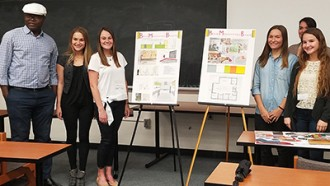 Image of Interior Design Students at MSU Design Carrette