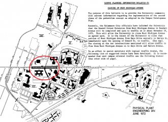 1972 Campus Reroute Map