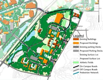2001 Oakland Campus Map