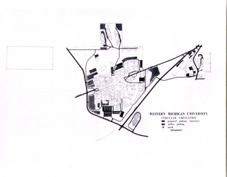 c us history part ii facilities management western michigan 1936 College Life 1970 vehicular circulation map
