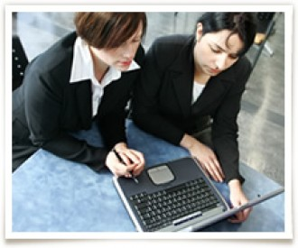two females on computer