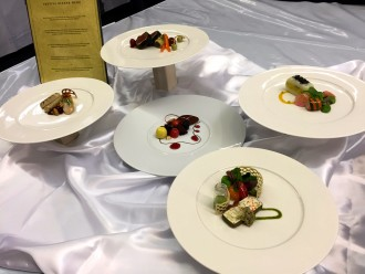 Photo of plated appetizers.