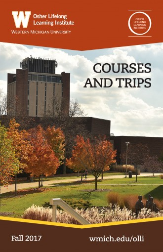 Cover image, 2017 WMU OLLI courses and trips catalog.