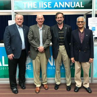 Photo of Butt, Fredericks, Greene and Bafna at the 2017 IISE conference.