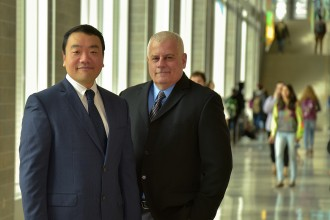 Photo of Drs. Dae Seok Chai and David B. Szabla.
