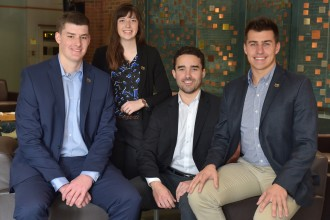 Photo of WMU's four-member student case competition team.