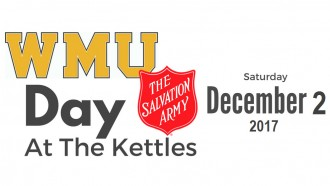 WMU Day at the Kettles logo, red Salvation Army shield and date Saturday, Dec. 2, 2017.