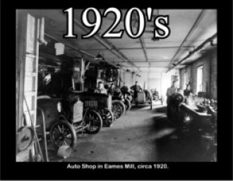 Auto Shop in Eames Mille, ca. 1920.
