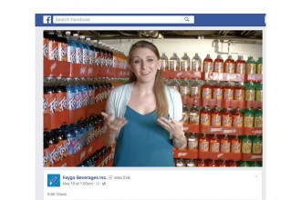 A preview image of a video. Woman standing in front of Faygo Pop display.
