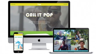 Preview of the elements of the Call It Pop campaign displayed on a computer screen.