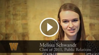 Video still of Melissa Schwandt's interview.