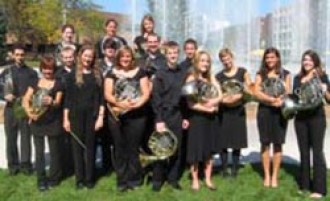 Photo of the Western Horn Choir members.