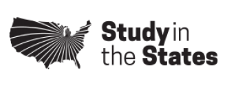 Study in the States logo which is a graphic of the continental United States and the words Study in the States.