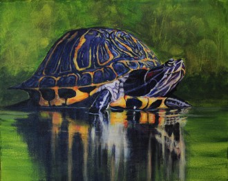 Painting of a turtle.