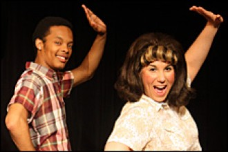 Photo of WMU students in Hairspray.