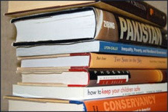 Photo of textbooks.