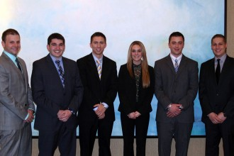 Photo of WMU's case competition team.