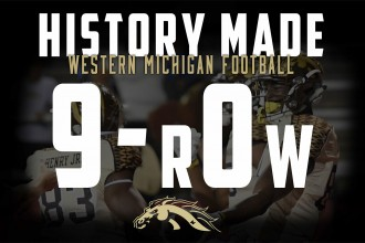 WMU football, history made, 9-r0w.