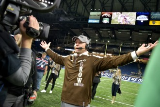 Photo of WMU head coach P.J. Fleck.