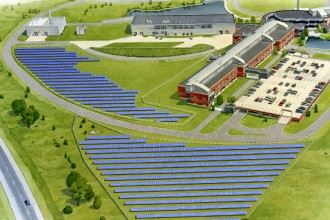 Rendering of Parkview solar garden.