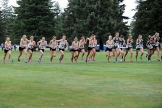 Photo of WMU cross country team.