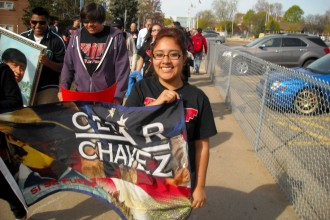 Photo from Kalamazoo César Chávez March.