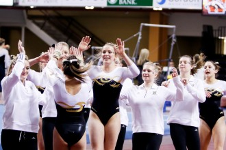 Photo of WMU gymnastics team.